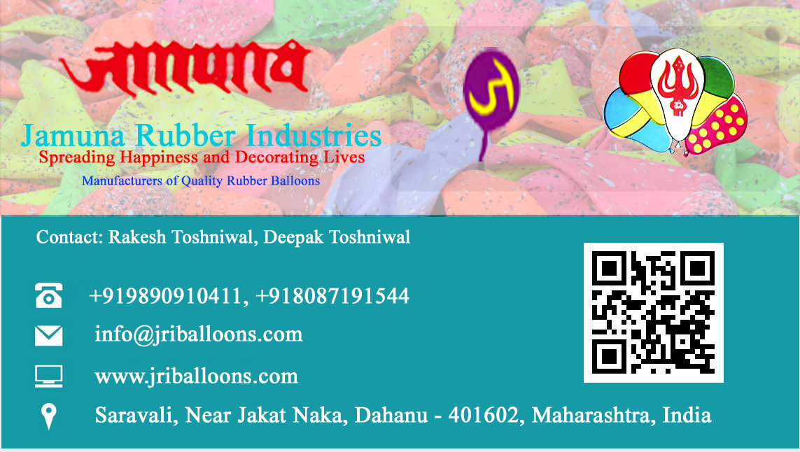 Jammuna Rubber Industries Visiting Card , Techno Code LLP