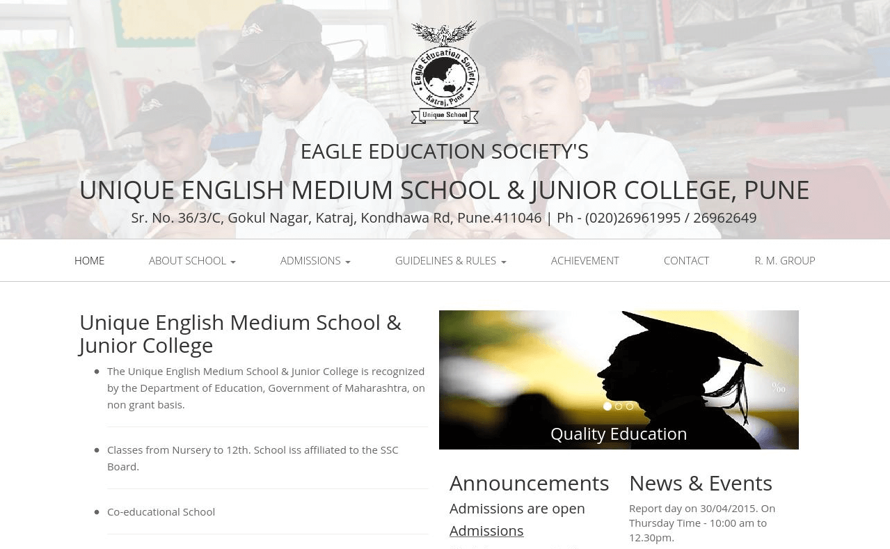 Unique English Medium School & Junior College , Techno Code LLP